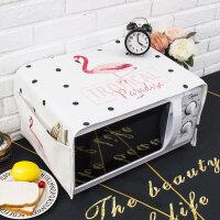 北欧ins粉色火烈鸟微波炉盖布罩格兰仕美的烤箱巾长方形 35X95cm