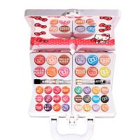 20180712185044012凯蒂猫 儿童化妆品 公主手提化妆箱女孩生日礼物品美妆彩妆盒玩具