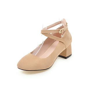 ELEISE美国艾蕾莎新品099-C-35韩版磨绒中跟女士单鞋