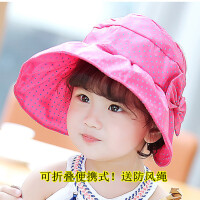 缕巷 新款夏天儿童帽子防紫外线小孩空顶帽 宝宝太阳帽女大檐防晒帽遮阳帽