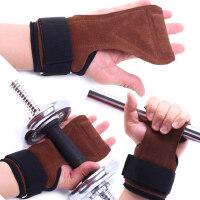 硅胶防滑引体向上健身手套 护腕助力带硬拉护掌男女握力带 健身哑铃训练男女护具
