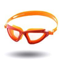 大框游泳眼镜 泳镜男女 防水游泳镜 游泳装备 桔色