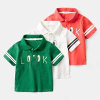 男童POLO衫儿童短袖T恤3岁宝宝夏装小童体恤半袖夏季衣服