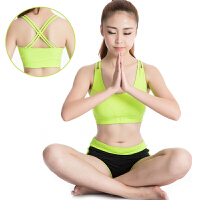 瑜伽服套装女 文胸短裤舞蹈服运动健身服修身显瘦两件套