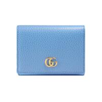 【网易考拉】GUCCI 古驰 Petit Mermont女士牛皮蓝色粒面纹三折钱包
