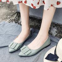 户外时尚单鞋舒适休闲平底鞋软底百搭女鞋时尚晚晚鞋