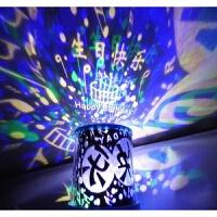 生日快�沸强�� !生日快�沸强�� 超亮版LED星空投影�羲�USB�另送�羝�1副 �{光版