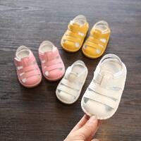 2018夏款女宝宝凉鞋 真皮男宝宝凉鞋牛皮婴幼儿软底学步鞋子