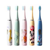 儿童电动牙刷全自动3-6-12岁男女宝宝防水卡通智能声波软毛刷头kb6