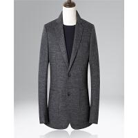 umber秋冬男士羊毛休闲西服修身毛呢单西装羊毛呢西服单西外套