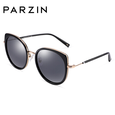 帕森2018新品 时尚猫眼太阳镜女 金属摩登炫彩偏光镜墨镜驾驶镜9919