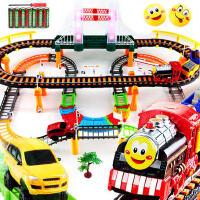 儿童玩具拖马斯小火车头套装男孩子电动拼装轨道汽车男童3-4-5岁6