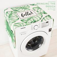北欧棉麻滚筒洗衣机罩茶几盖布床头柜盖巾防水罩冰箱布艺防尘罩 140cm*55cm