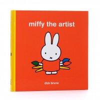英文原版 艺术家米菲 翻翻书 Dick Bruna 米菲兔 儿童艺术启蒙 Miffy the Artist Lift-