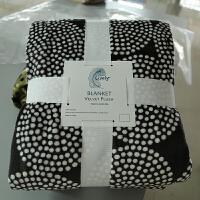 家纺毛毯 床单印花法兰绒毯子 双人秋冬珊瑚绒午睡盖毯 180cmX220cm