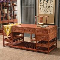 实木办公桌草龙大班桌写字台大班台仿古家具中式电脑桌 配官帽椅 否