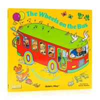点读版 The Wheels on the Bus 洞洞书 韵文童谣英文原版绘本 超大开本 平装 Child's Pl