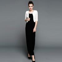 新款女装优雅女人气质修身显瘦坎肩短款西装小外套 白色