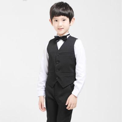 男童演出服马甲套装 儿童礼服学生钢琴演奏合唱礼服小花童秋冬