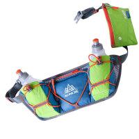 越野跑步腰包男女马拉松水壶腰包户外骑行运动水壶腰包 蓝色配果绿(含水壶)