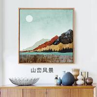客厅装饰画沙发背景墙北欧风格挂画组合美式墙画现代简约餐厅壁画 80*80cm 独立 黑色框