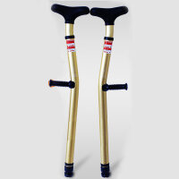 脚骨折拐杖 拐杖腋下拐铝合金双拐防滑骨折残疾人可调高度拐�E欧美款高端HW