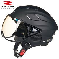 摩托车头盔男女士半覆式春夏季轻便半盔四季电动车安全帽