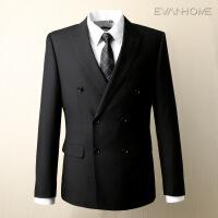 春季新款男士商务正装西服套装 修身型职业西装男黑色 EVXF056