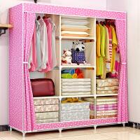 布衣柜 钢架加固加厚 简易衣柜加粗钢管防尘大号收纳布衣橱 f3q