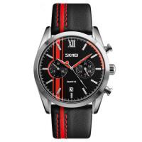 防水指针石英手表大表盘男士商务时装表个性潮流皮带腕表