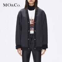 【到手价:754,叠加每满300减30上不封顶,13-15】MOCO冬季新品双面穿牛仔刺绣外套MA184JKT403