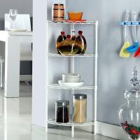 新款浴室三角架四层角落架厨房置物架不锈碳钢三脚架卫生间架