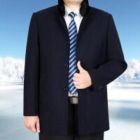中老年厚款棉衣男装外套冬装可脱卸内胆男棉衣中年男士爸爸棉袄装 深蓝色 立领85 0 码