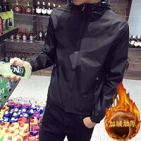 风衣男短款秋冬款韩版修身青年学生帅气休闲户外运动防风外套冬季