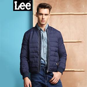 Lee男装 商场同款秋冬男士时尚藏青色羽绒服潮L157851GC3BL