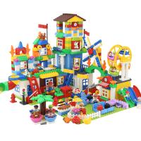 玩具1-2周岁兼容legao积木城市拼装组女孩男孩子3儿童大颗粒7