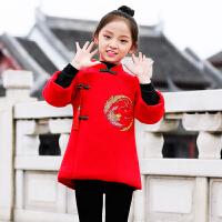 宝宝唐装秋古装儿童汉服中国风过年拜年喜庆衣服套装女孩