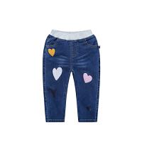 童装女童牛仔裤秋季休闲裤修身长裤儿童中小童裤子