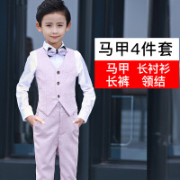 儿童礼服男小花童婚礼男孩主持人走秀新款钢琴演出服男童套装