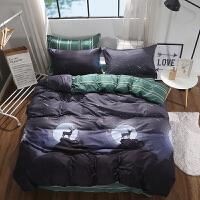 棉四件套棉被套1.8m床上用品儿童单人床学生宿舍上下铺三件套