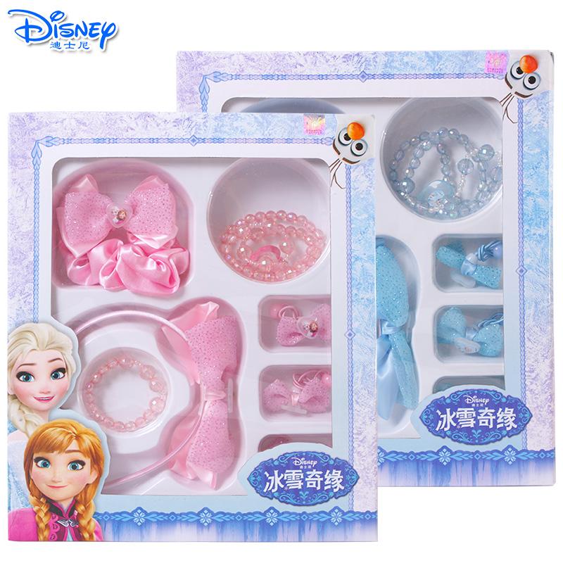 迪士尼儿童发饰韩版套装冰雪奇缘小女孩发卡发夹女童发箍头饰