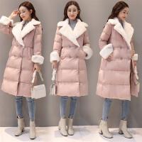 棉衣女中长款冬季新款2017韩版修身保暖加厚斗篷型气质裙摆棉袄潮