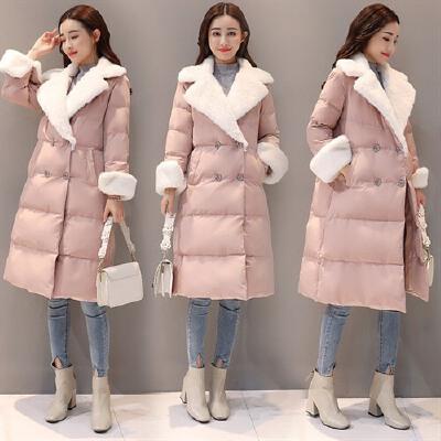 棉衣女中长款冬季新款韩版修身保暖加厚斗篷型气质裙摆棉袄潮 一般在付款后3-90天左右发货,具体发货时间请以与客服协商的时间为准