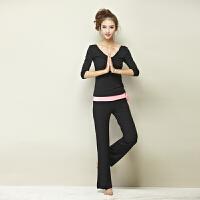 20180411145914782新款长袖瑜伽服套装女春夏季瑜珈服显瘦健身房愈加服女三件套