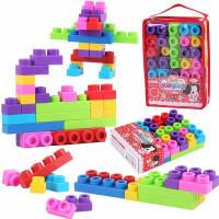 儿童积木玩具 软胶大颗粒积木玩具宝宝儿童早教益智礼盒装生日礼物 3314软胶积木