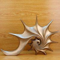 工艺品摆件 欧式复古海螺现代创意家居装饰品 软装摆设 22579:41.5*5.5*28.5