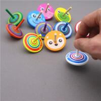 5个装小陀螺 手动旋转陀螺幼儿园教具小玩意男女孩子传统木质玩具