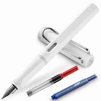 LAMY/凌美笔safari 狩猎者白色EF钢笔/墨水笔  秘密花园 为年轻人设计、特殊、有个性的笔款,充分展现出年轻人的勇气及活力,采用ABS笔身、色彩丰富,颜色亮丽,不仅是可以作为书写工具,同样是很好的装饰品。