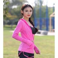 秋冬运动健身衣卫衣跑步瑜伽服长袖上衣帽衫外套舞蹈服女