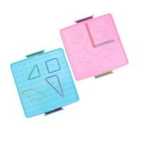 晨光双面钉子板教具 98843小学生用数学学具 益智图形玩教具 一个